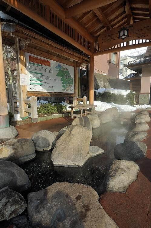 城崎温泉の足湯