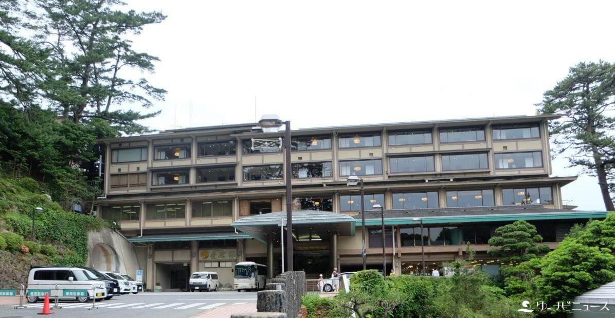 「ホテル金波楼」の外観