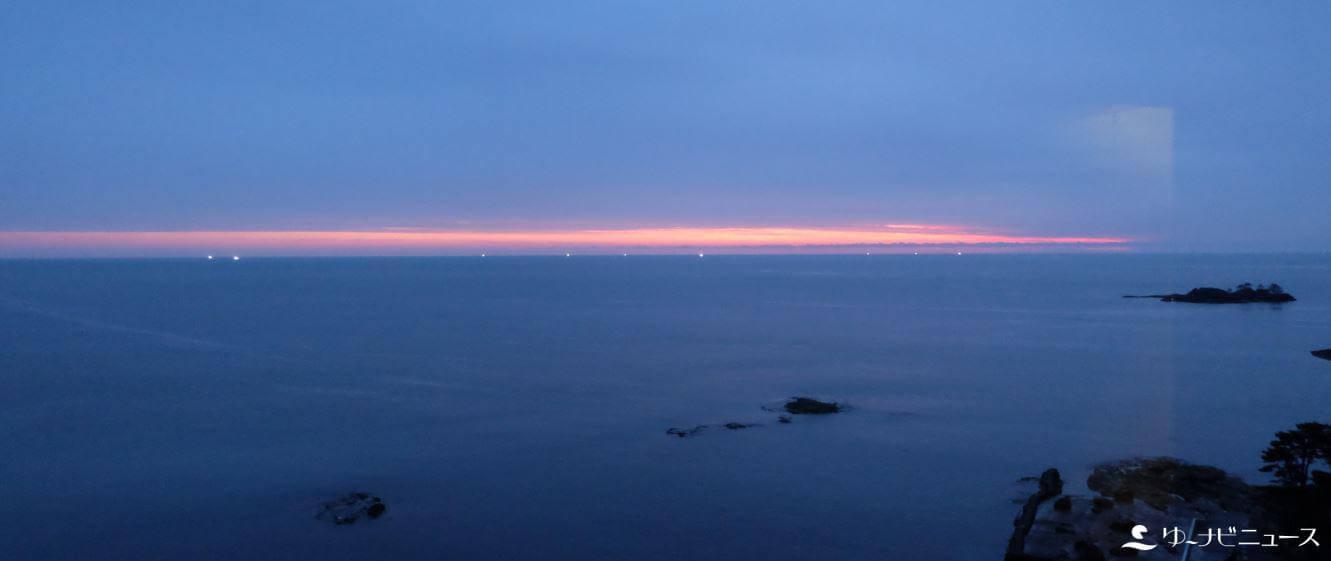 金波楼から見る日本海の景色
