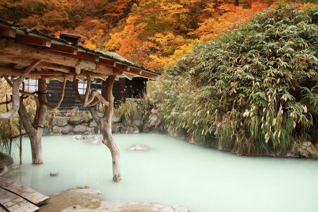 「鶴の湯温泉」の混浴露天風呂